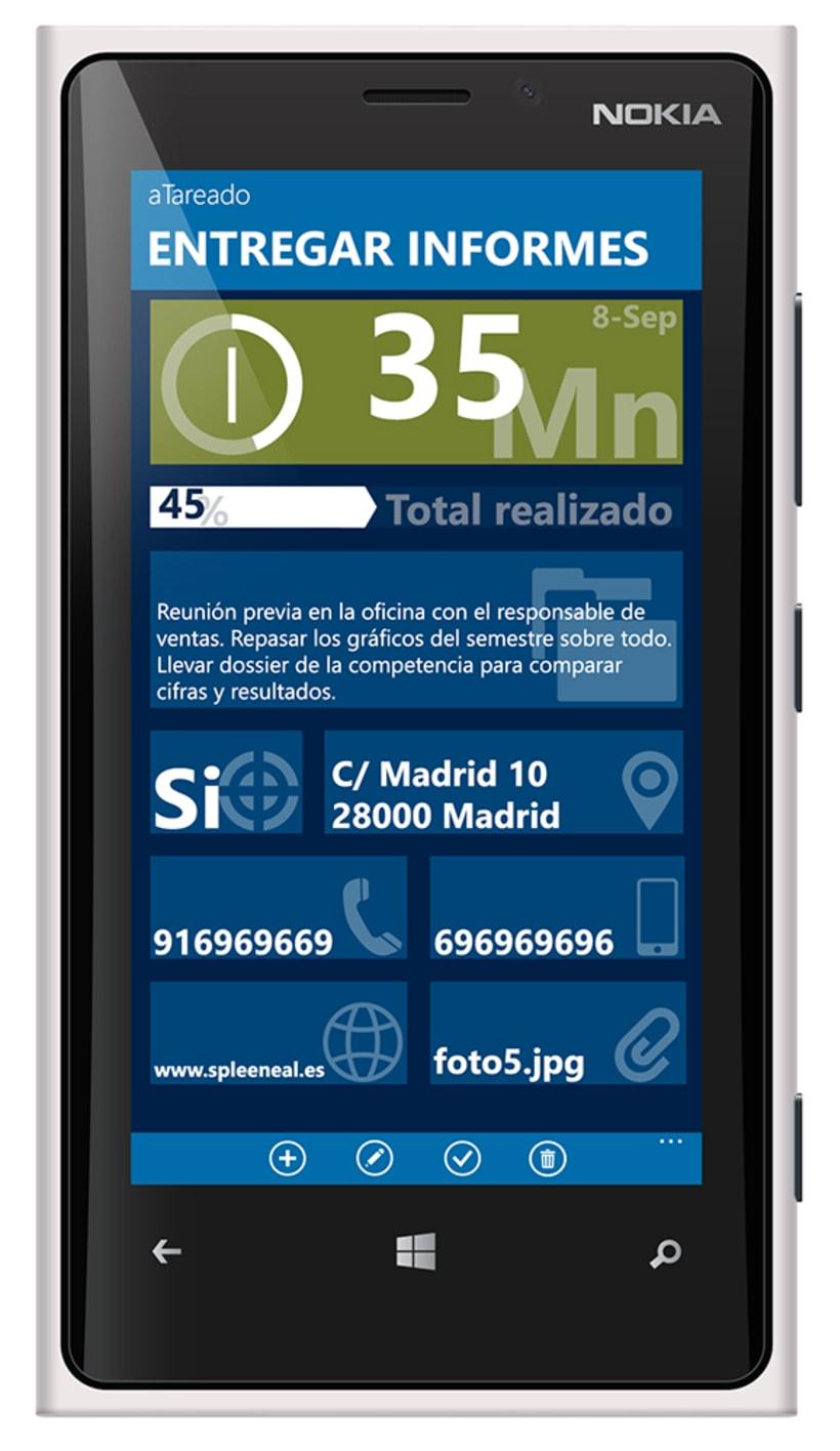 © aTareado aplicación de gestión de tareas para Windows Phone 8 5