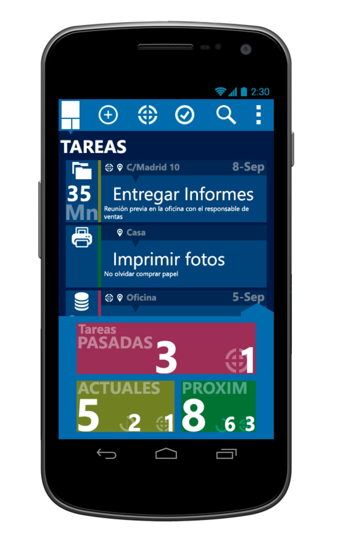 © aTareado aplicación de gestión de tareas para Android 3