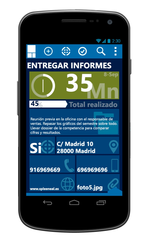 © aTareado aplicación de gestión de tareas para Android 4