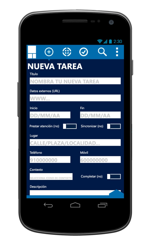 © aTareado aplicación de gestión de tareas para Android 5