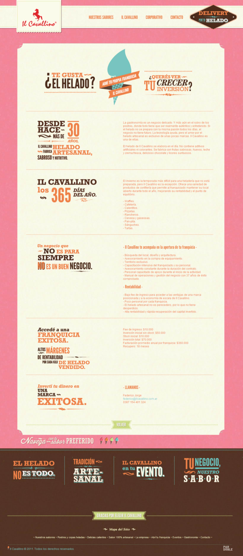 Il Cavallino website 1