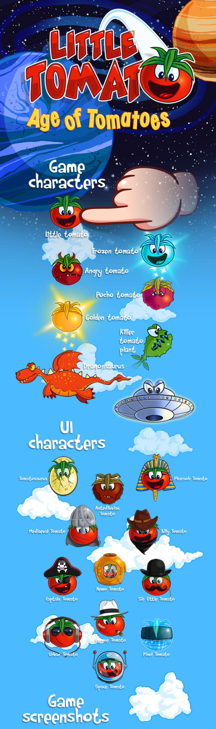 Little Tomato, Age of Tomatoes, Android and iOS game 0