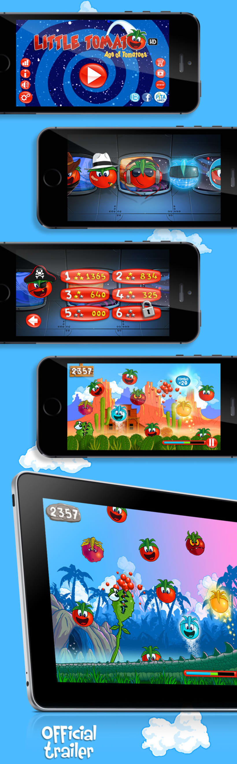 Little Tomato, Age of Tomatoes, Android and iOS game 1