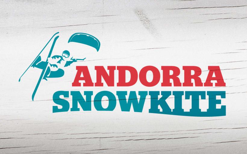 Andorra Snowkite. Imágen Gráfica de Evento Deportivo -1