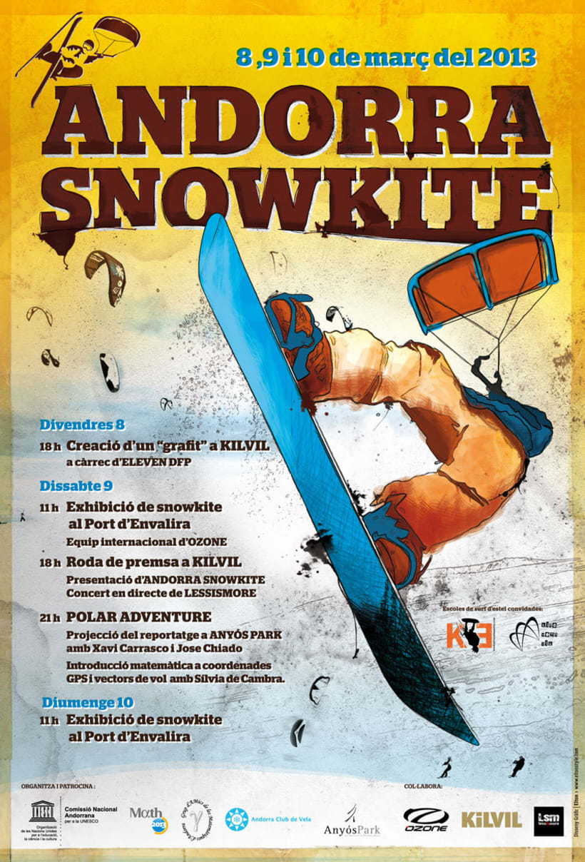 Andorra Snowkite. Imágen Gráfica de Evento Deportivo 0