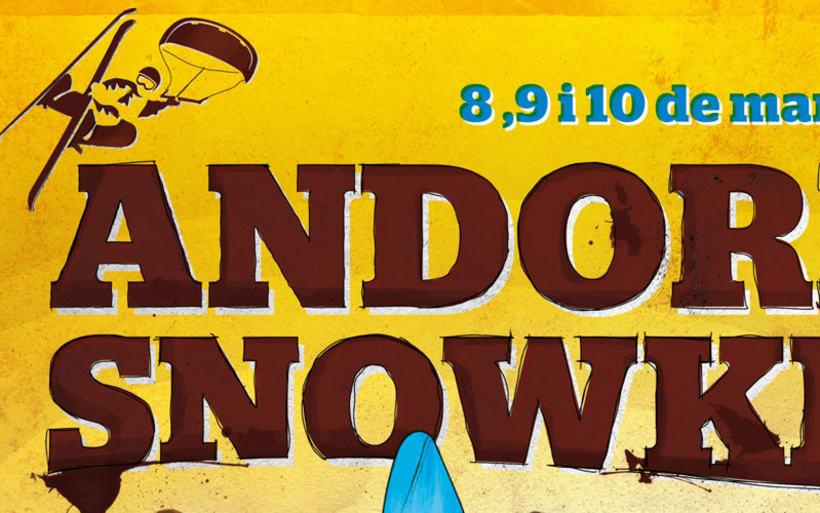 Andorra Snowkite. Imágen Gráfica de Evento Deportivo 3