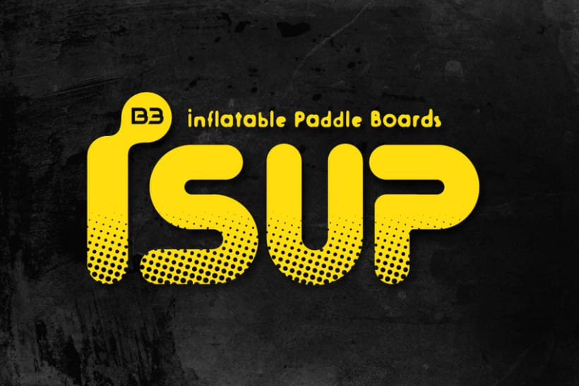 iSUP. Logo para Marca de Stand Up Paddle Surf -1
