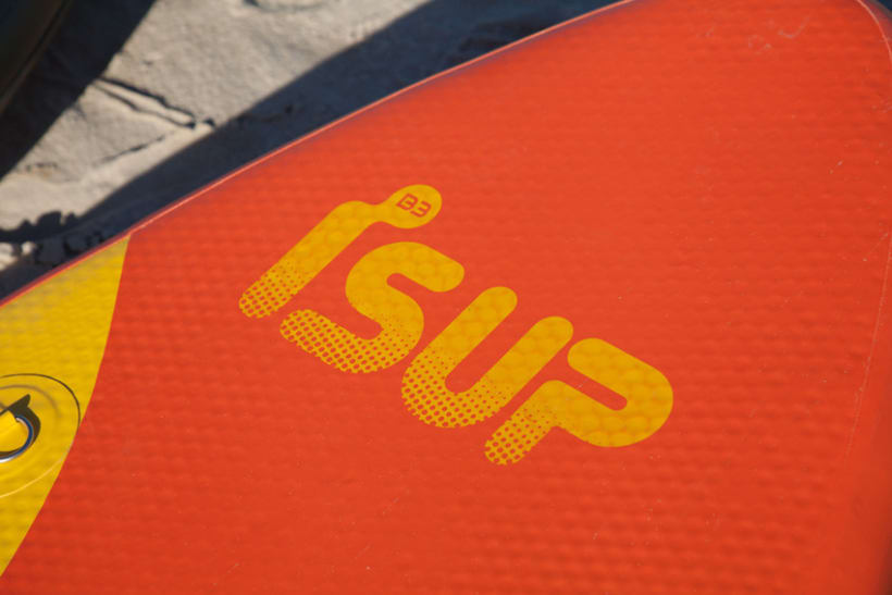 iSUP. Logo para Marca de Stand Up Paddle Surf 0