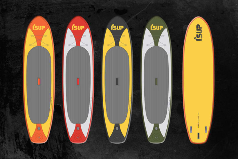 iSUP. Logo para Marca de Stand Up Paddle Surf 3