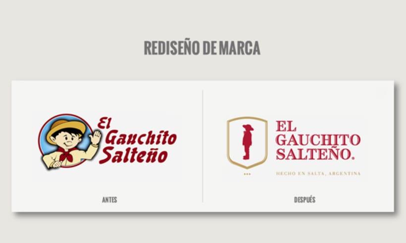 Rebranding + packaging El Gauchito Salteño 0