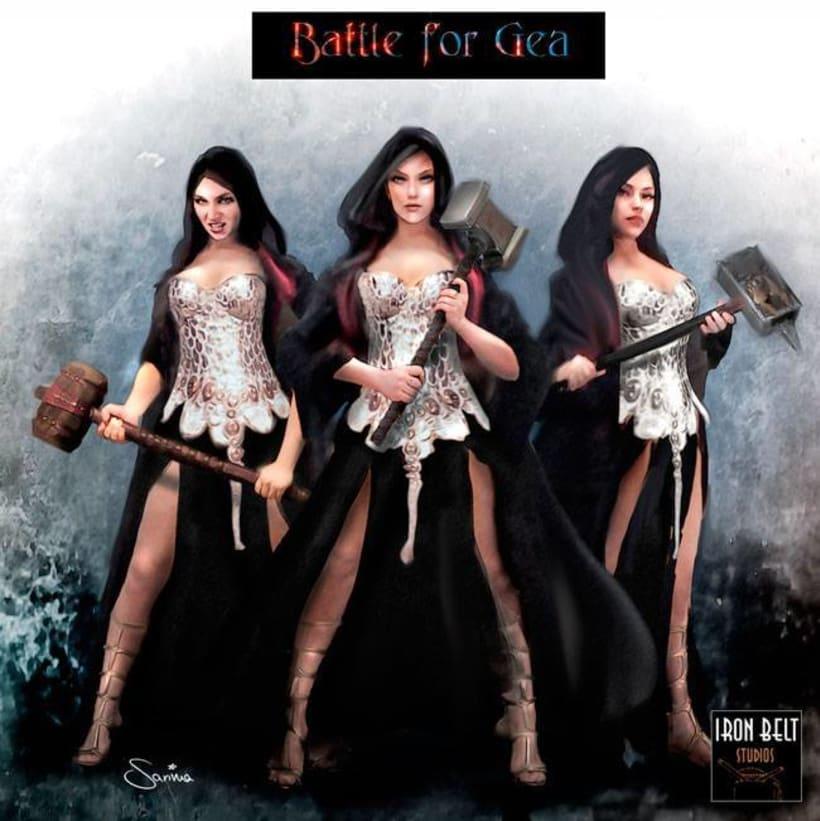 Cartas para Battle of Gea de Estudios Iron Belt 1