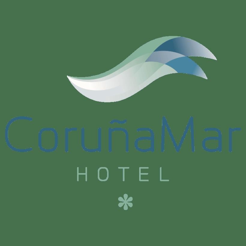 Identidad corporativa de Hotel Coruña Mar 0