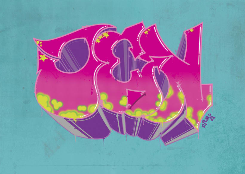 Graffiti Jenny (Illustrator/photoshop) -1