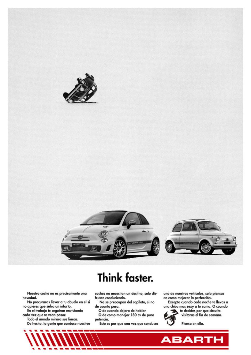 Think faster. Gráfica Abarth para concurso Festival Publicatessen & Zink Project -1