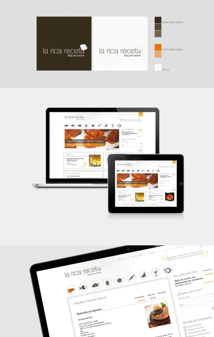 La Rica Receta Branding and Web design 0