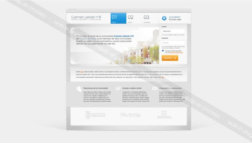 Carmen LaForet Portal de vecinos Web design 0