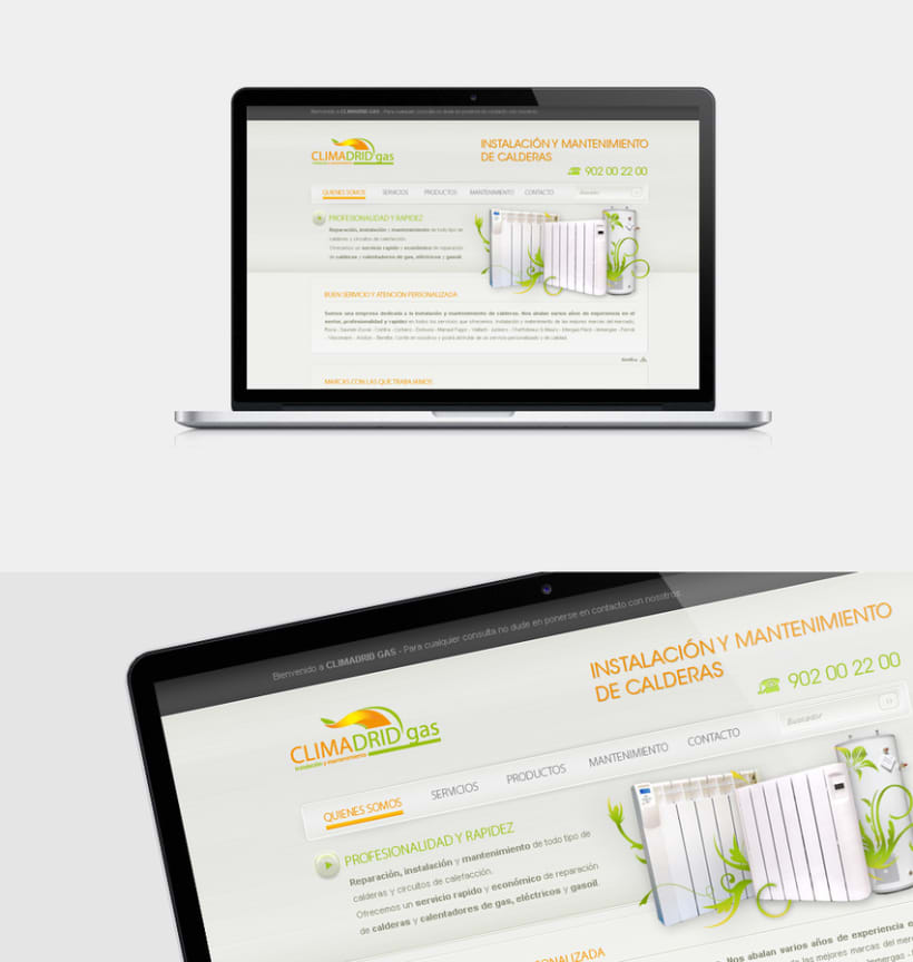 ClimadridGas Web design 0