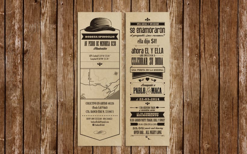 wedding invite :: maca & pablo 0
