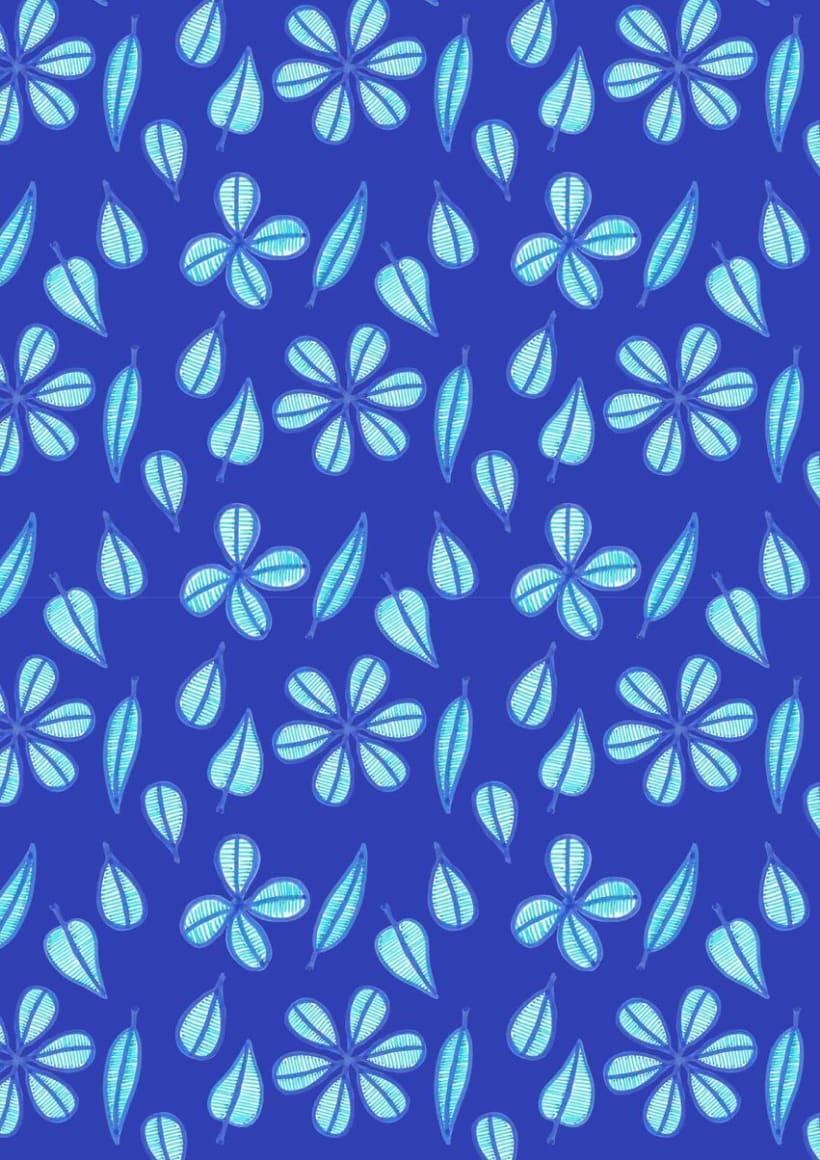 Flores Azules  -1