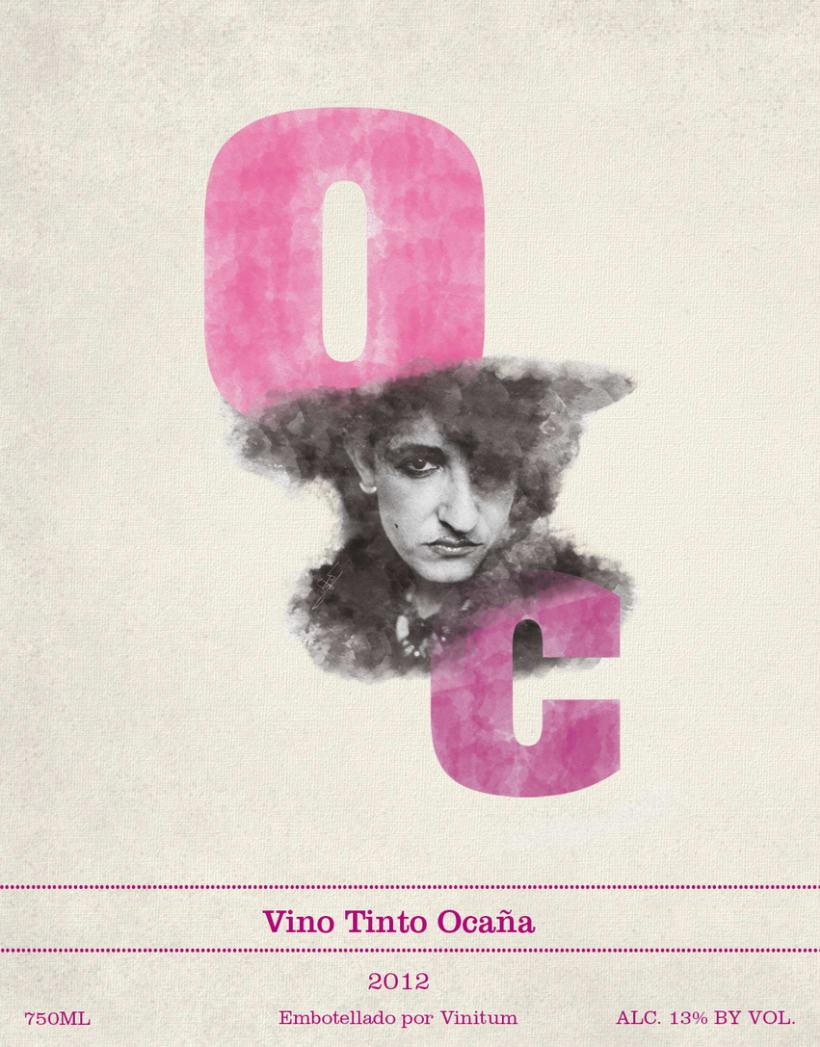 Ocaña Wine label -1