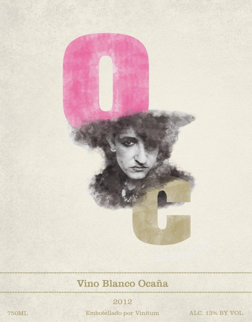 Ocaña Wine label 0