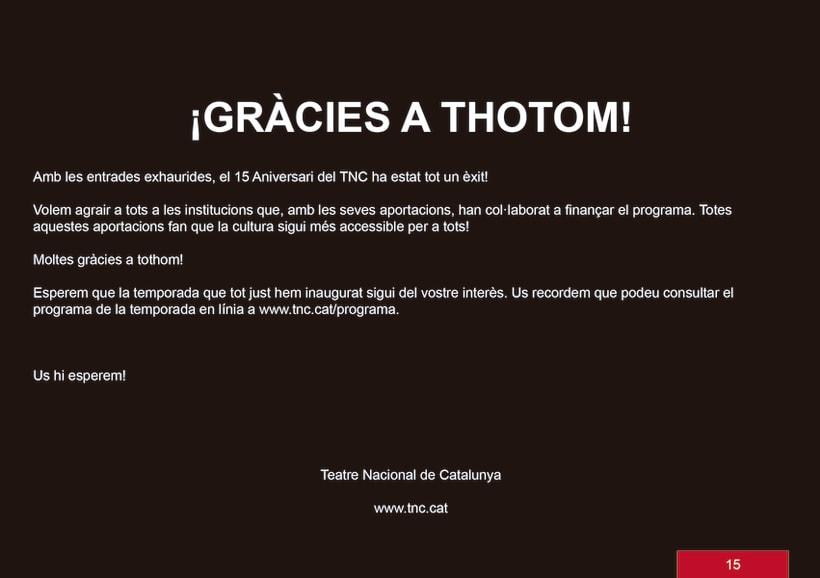 Edició promocional llibret aniversari institucio cultural TNC 14