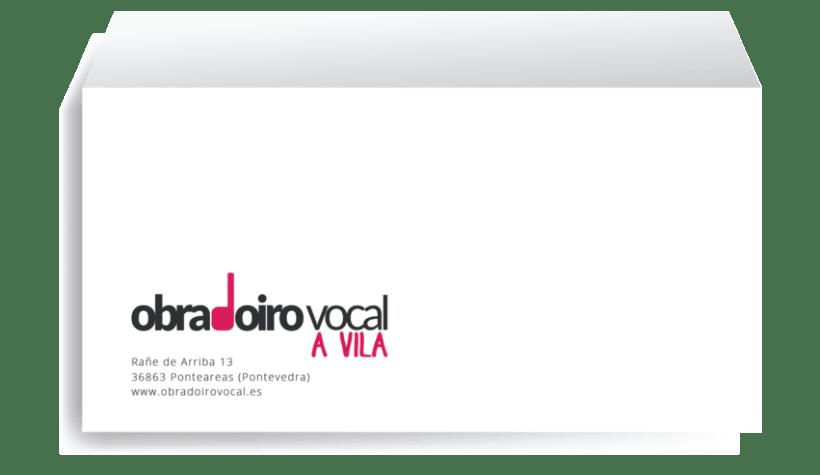 Identity rebrand for the choir Obradoiro Vocal A Vila 0