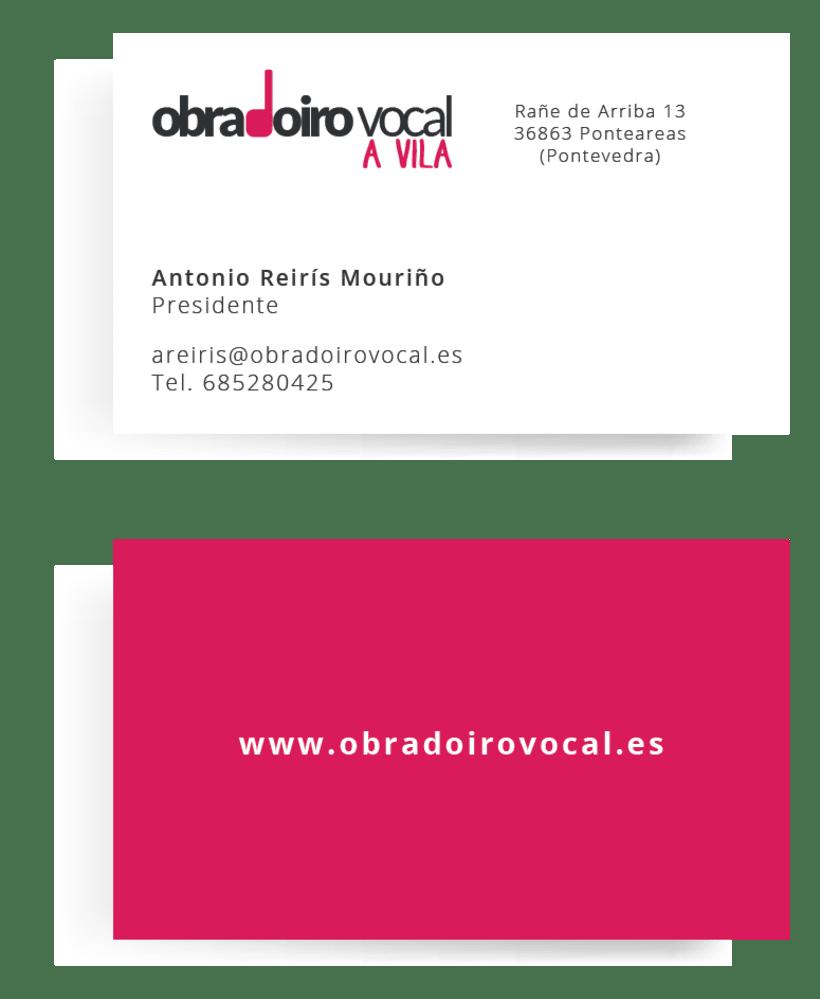 Identity rebrand for the choir Obradoiro Vocal A Vila 1
