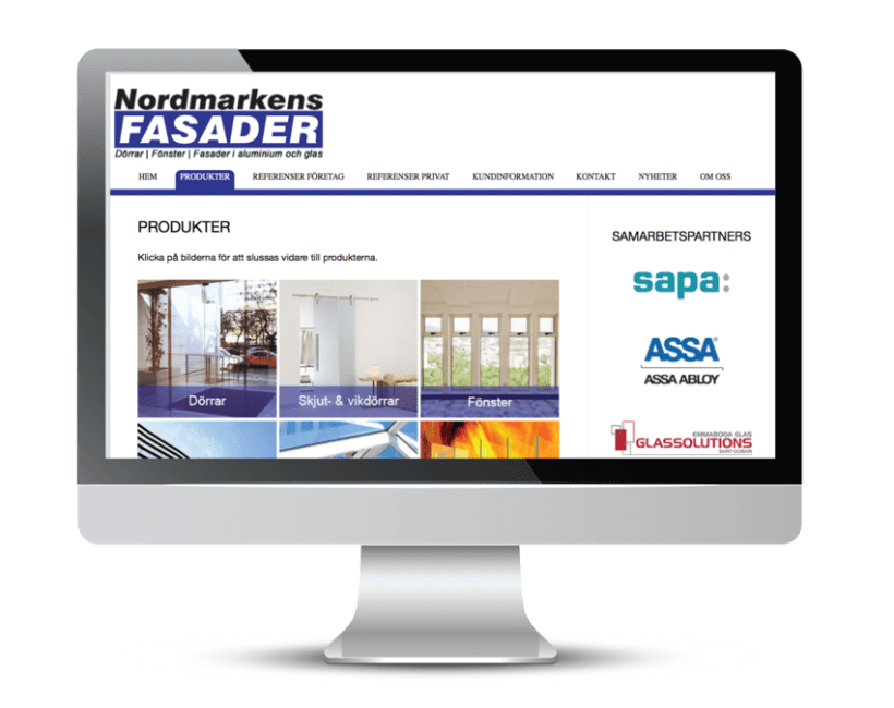 Nordmarkens Fasader's website 1