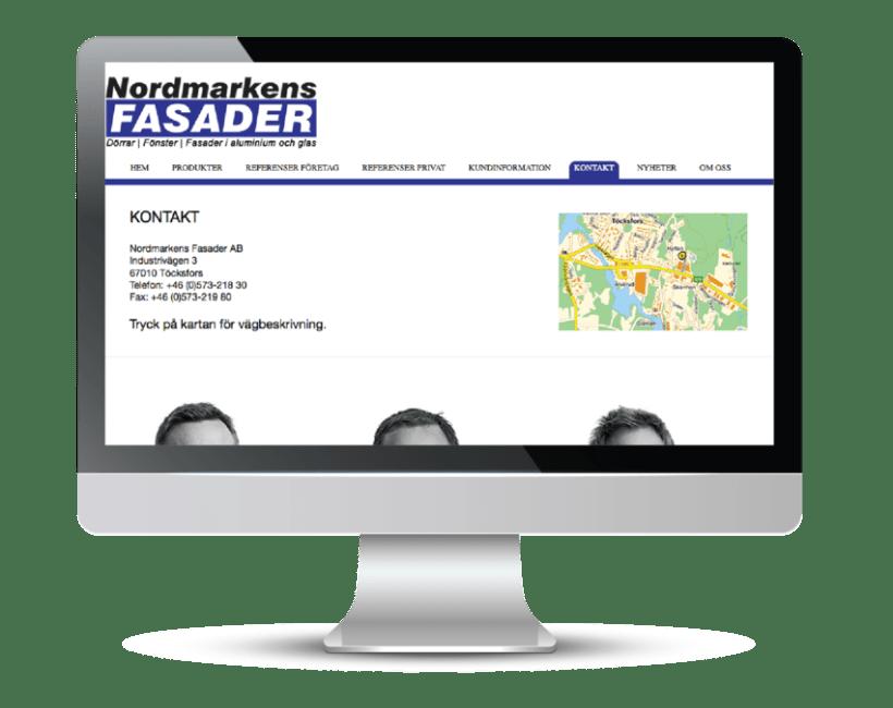 Nordmarkens Fasader's website 2