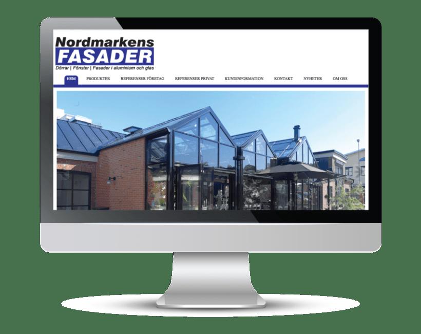 Nordmarkens Fasader's website 0