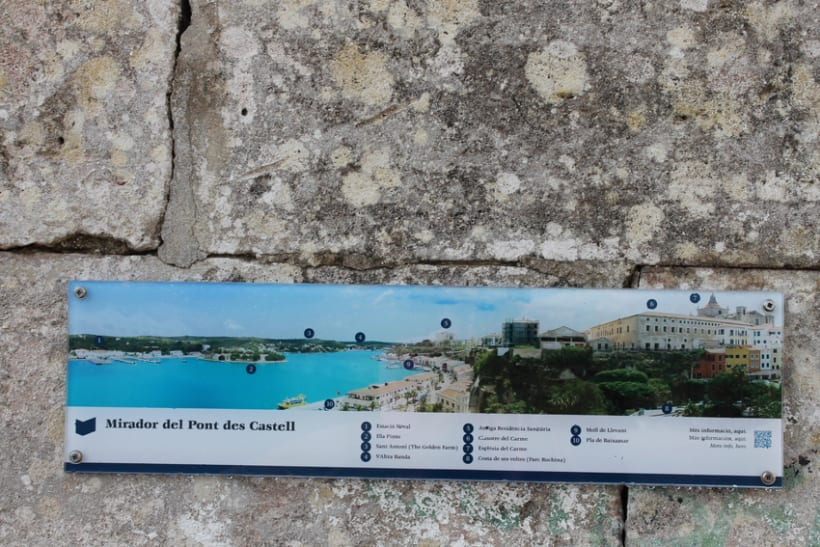 Señalética miradores Puerto de Mahón 5