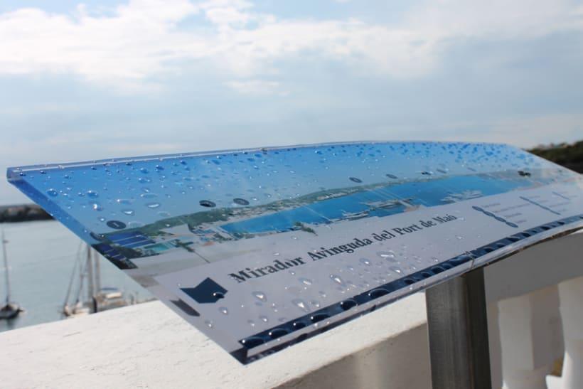 Señalética miradores Puerto de Mahón 8