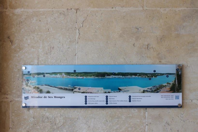 Señalética miradores Puerto de Mahón 11