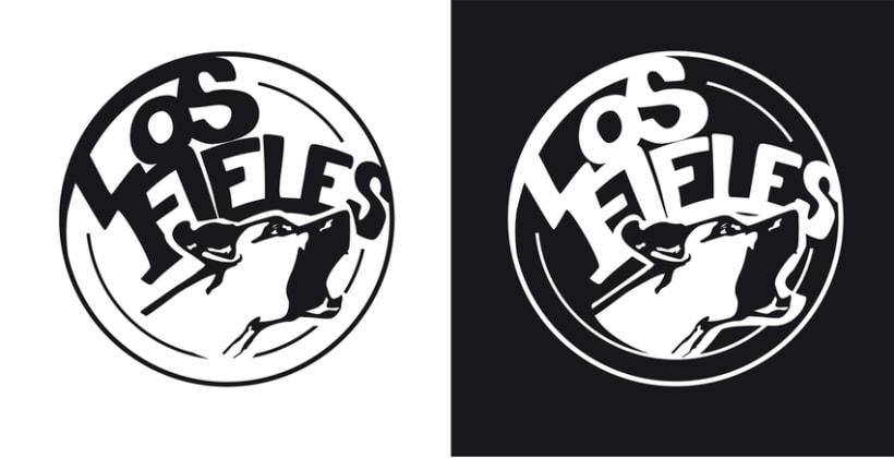 Los Fieles. Diseño de la imagen corporativa de la banda de Hardrock 0