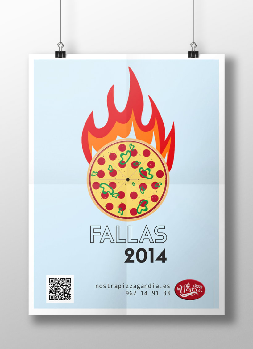 Poster promocional pizzería 0