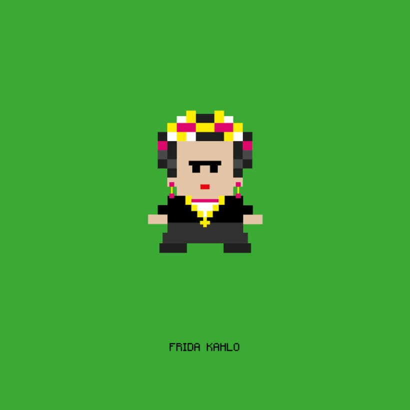 Pixel characters 0