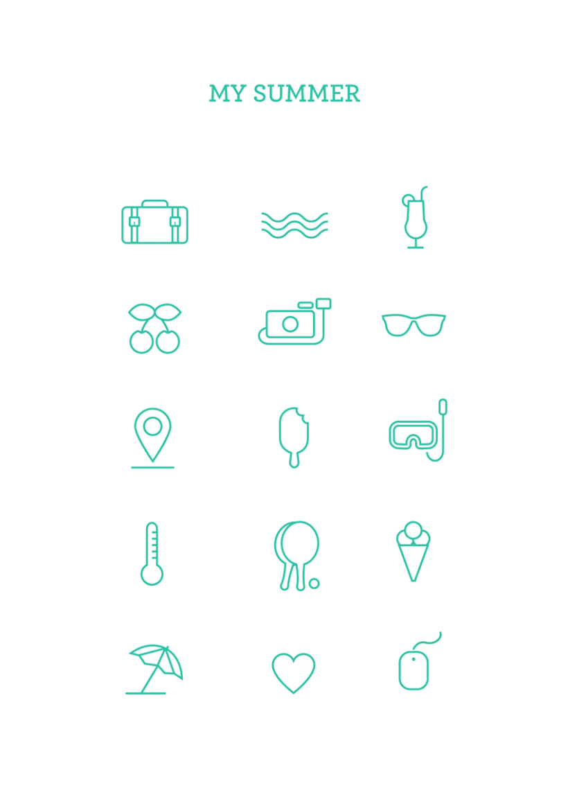 Summer icons -1