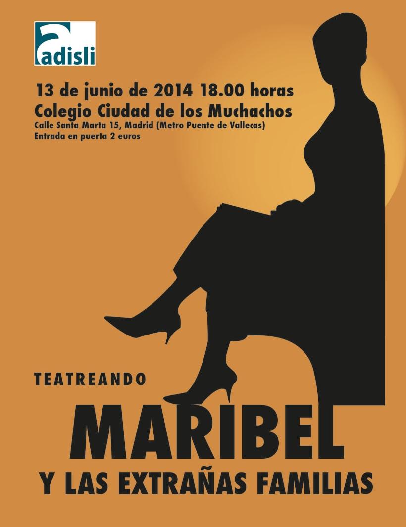 Cartel de Maribel y las extrañas familias -1