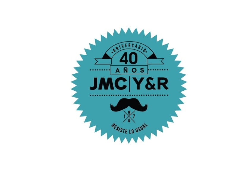 Logo de aniversario de la agencia de publicidad JMC Y&R 40 AÑOS// CCS-VZLA -1