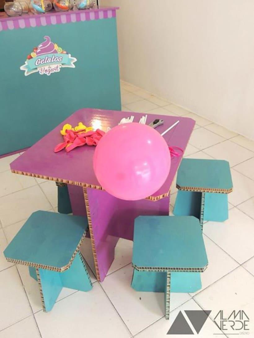 """Heladería Gelatos """"Cremosos helados de Yogurt"""" - Imagen y mobiliario  2"""
