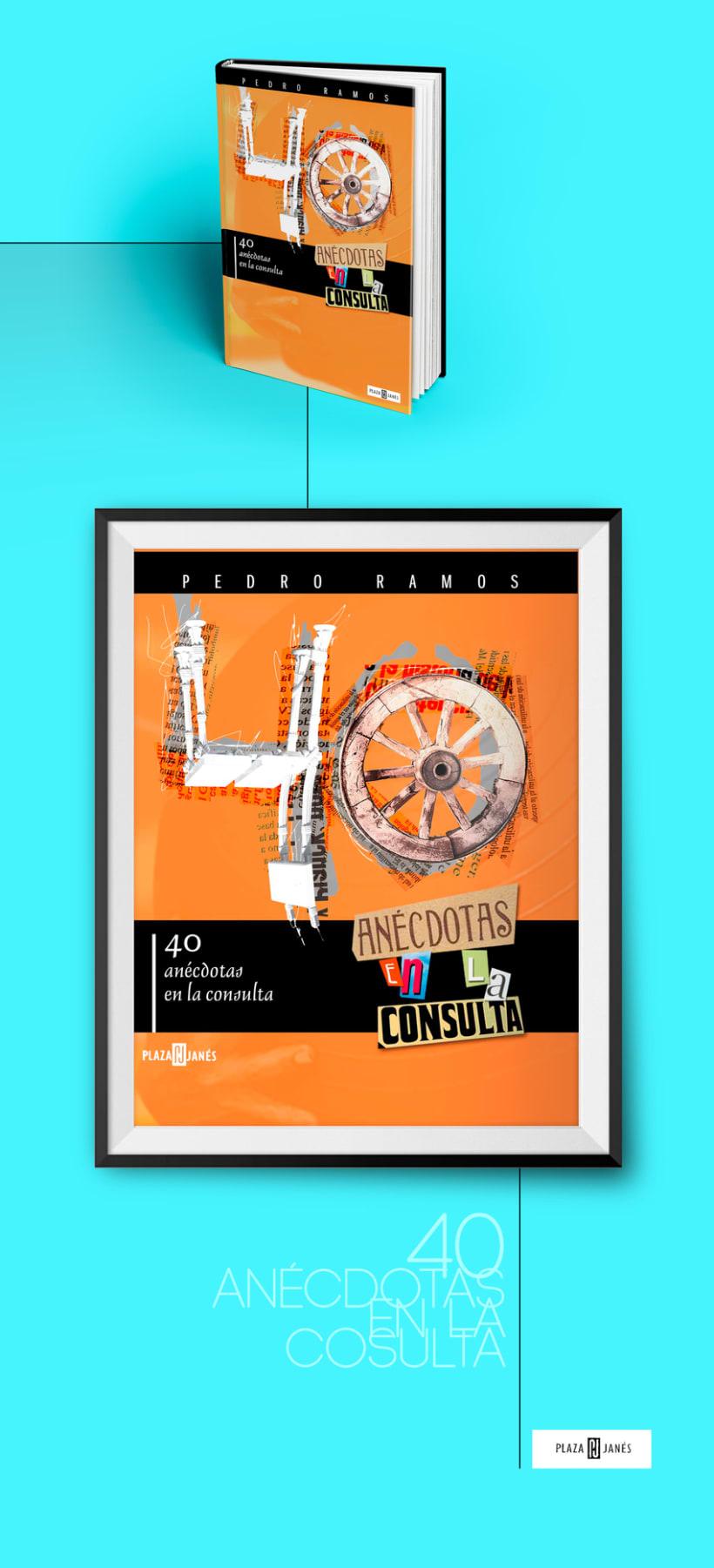Book cover layout. 40 anécdotas en la consulta -1