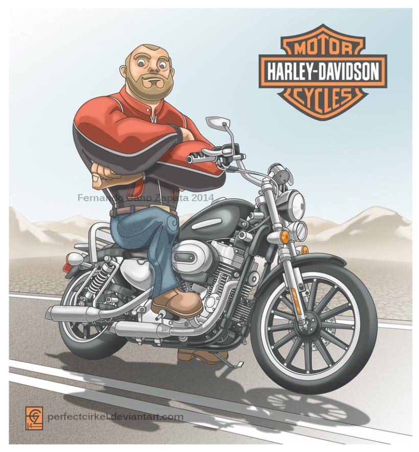 Harley Davidson Biker -1