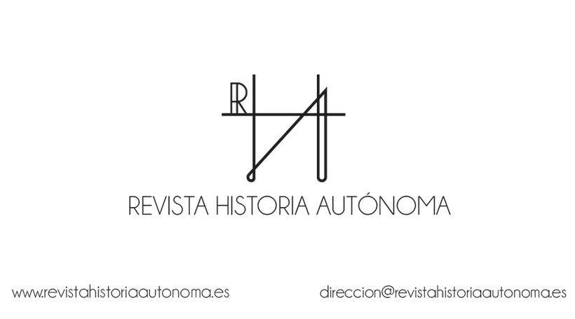 Tarjetas de visita de la Revista Historia Autónoma -1