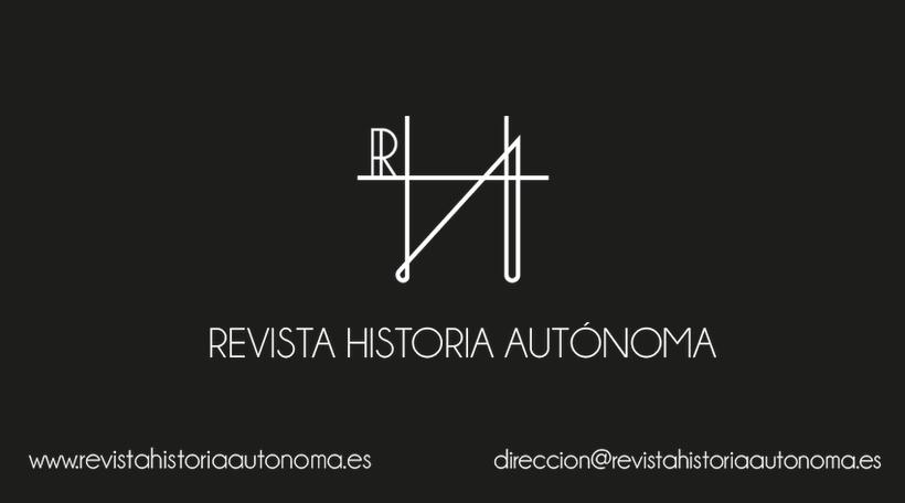 Tarjetas de visita de la Revista Historia Autónoma 0