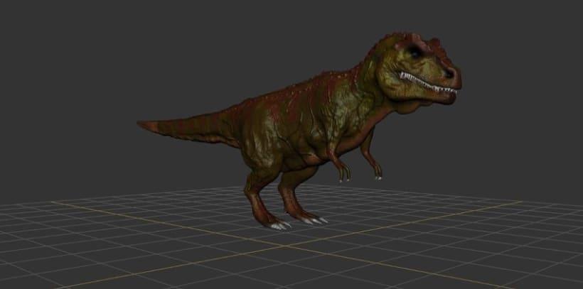 Modelado 3D Tiranosaurio Rex con Mudbox y 3Ds MAX 0