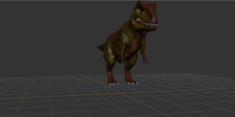 Modelado 3D Tiranosaurio Rex con Mudbox y 3Ds MAX 1