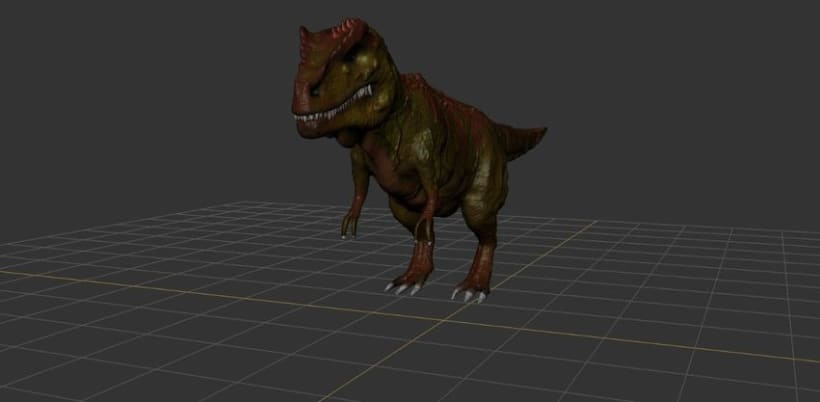 Modelado 3D Tiranosaurio Rex con Mudbox y 3Ds MAX 3