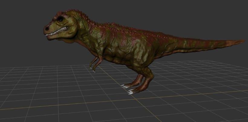 Modelado 3D Tiranosaurio Rex con Mudbox y 3Ds MAX 4