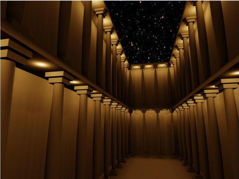 Modelado 3D Iluminación patio de Columnas con 3Ds MAX 0